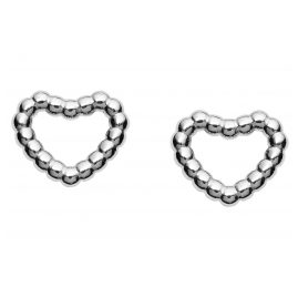 Fossil JFS00457040 Women's Stud Earrings Open Heart Silver
