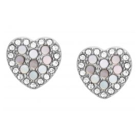 Fossil JF03413040 Ladies Stud Earrings Mosaic Heart