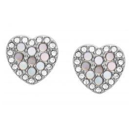 Fossil JF03413040 Damen Herz-Ohrstecker Ohrringe Mosaic Heart