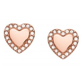 Fossil JF03364791 Ladies' Stud Earrings Heart Be Mine Rose