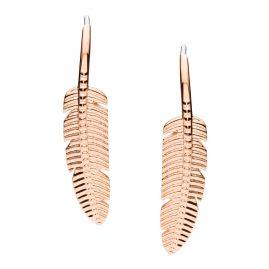 Fossil JF03668791 Damen-Ohrringe Feather Edelstahl roségoldfarben