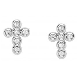 Fossil JFS00544040 Women's Stud Earrings Crosses Silver
