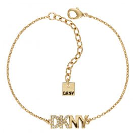 DKNY 5519998 Damen-Armband Pave Logo Pendant