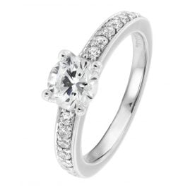 Viventy 764481 Engagement Ring Silver 925 Cubic Zirconia Women's Ring