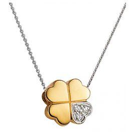 Viventy 772252 Kleeblatt Damen-Halskette