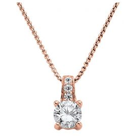 Viventy 770933 Women's Necklace with Solitaire Pendant Rose Gold Plated Silver