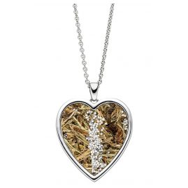 Viventy 783212 Silver Necklace for Ladies Heart with Wild Grass