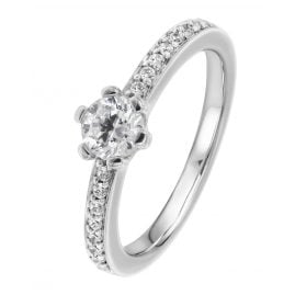 Viventy 775201 Engagement Ring Silver 925 Cubic Zirconia Ladies' Ring