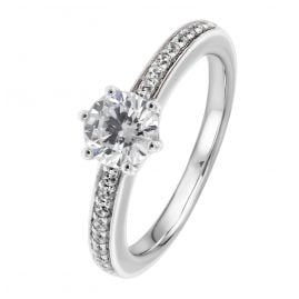 Viventy 777341 Engagement Ring Silver 925 Cubic Zirconia Ladies' Ring