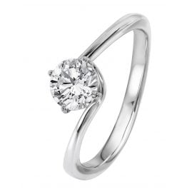 Viventy 780521 Engagement Ring 925 Sterling Silver Cubic Zirconia