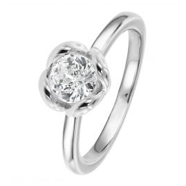 Viventy 783376 Women's Ring 925 Sterling Silver Rosebush Engagement Ring