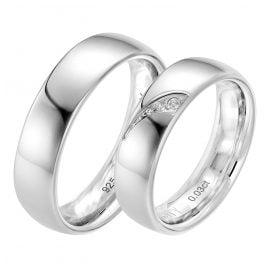 Viventy 8043 Partnerringe Paar 925 Silber Diamant