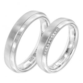 Viventy 8075 Partnerringe Paar 925 Silber Diamanten