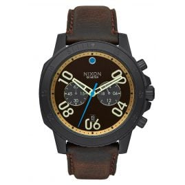 Nixon A940 2209 Ranger Chrono Leather Black Herrenuhr