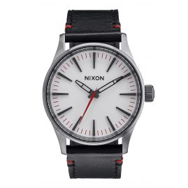 Nixon A377 486 Sentry 38 Gunmetal/White Watch