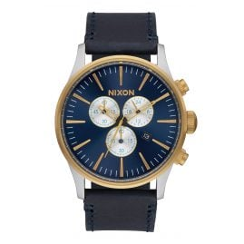 Nixon A405 1922 Sentry Chrono Leather Mens Watch