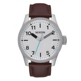 Nixon A975 1113 Safari Leather Silver/Brown Herrenuhr