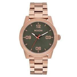 Nixon A919 2283 G.I. SS Rose Gold/Green Damenuhr