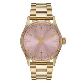 Nixon A450 2360 Sentry 38 SS Gold/Pink Ladies Watch