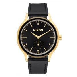 Nixon A995 513 Sala Leather Gold/Black Damenuhr