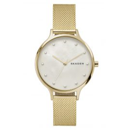 Skagen SKW2774 Ladies Watch Anita Mesh Gold-Tone