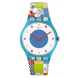 Swatch SUOS108 Ladies Watch Quilted Time