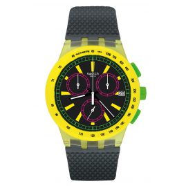 Swatch SUSJ402 Chronograph Watch YEL-LOL