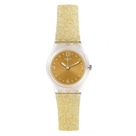 Swatch LK382 Damen-Armbanduhr Golden Glistar Too
