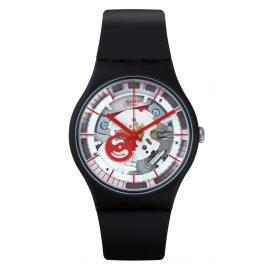 Swatch SUOB153 Armbanduhr Siliblack