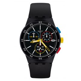 Swatch SUSB416 Men´s Watch Chronograph Black-One