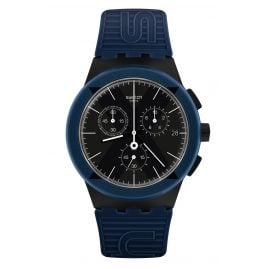 Swatch SUSB418 Herrenuhr Chronograph X-District Blue