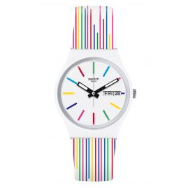 Swatch GW712 Women's Watch White Samba