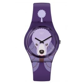 Swatch GV133 Damenuhr Purple Poodle