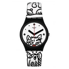 Swatch GB322 Damen-Armbanduhr Comicat