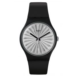 Swatch SUOB172 Watch Silver Shield