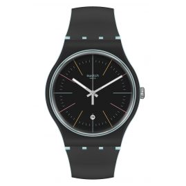 Swatch SUOS402 Watch Black Layered