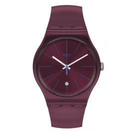 Swatch SUOR402 Unisex Watch Burgundazing