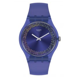 Swatch SUOV106 Damenuhr Purple Rings