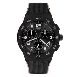 Swatch SUSB106 Men's Watch Chronograph Black Cord