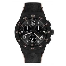 Swatch SUSB106 Herren-Armbanduhr Chronograph Black Cord