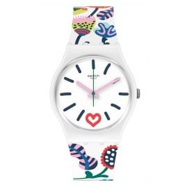 Swatch GW213 Damen-Armbanduhr Just Flowers