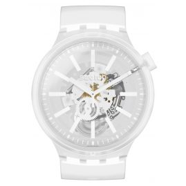 Swatch SO27E106 Big Bold Armbanduhr Whiteinjelly