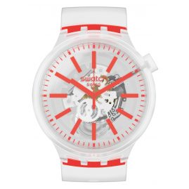 Swatch SO27E102 Big Bold Armbanduhr Orangeinjelly