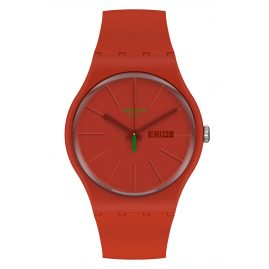 Swatch SO29R700 Herrenuhr Redvremya Rot