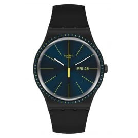 Swatch SUOB731 Wrist Watch Black Rails