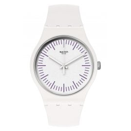 Swatch SUOW173 Watch Whitenpurple