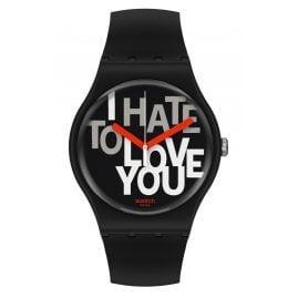 Swatch SUOB185 Unisex-Armbanduhr Hate 2 Love