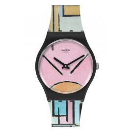 Swatch GZ350 Watch Composition in Oval with Color Planes 1 by Piet Mondrian