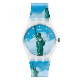 Swatch GZ351 Armbanduhr New York by Tadanori Yokoo, The Watch