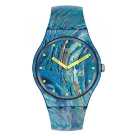 Swatch SUOZ335 Armbanduhr The Starry Night by Vincent Van Gogh, The Watch